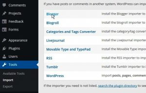 Impor Blogger ke WordPress