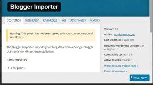 Migrasi dari Blogger ke WordPress - Install Blogger Importer