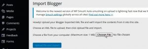 Migrasi dari Blogger ke WordPress - Upload Blogger Kontent