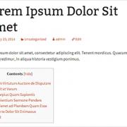 Membuat Daftar Isi di Wordpress